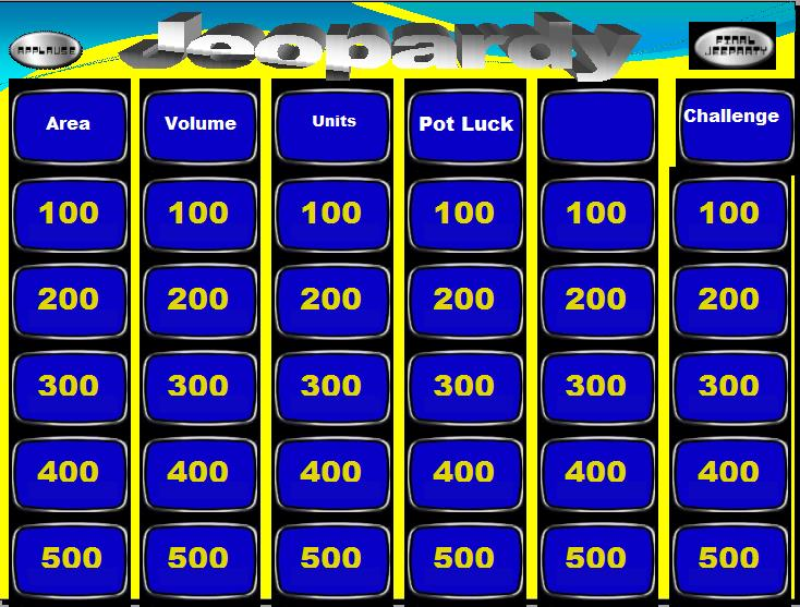 Jeopardy  Ib Maths Resources From British International School Phuket
